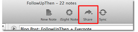 Evernote + FollowUpThen Step 1