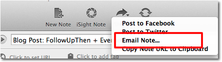 Evernote + FollowUpThen Step 2