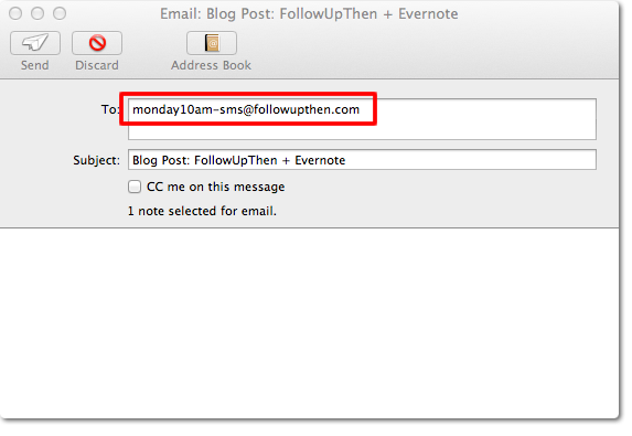 Evernote + FollowUpThen Step 3