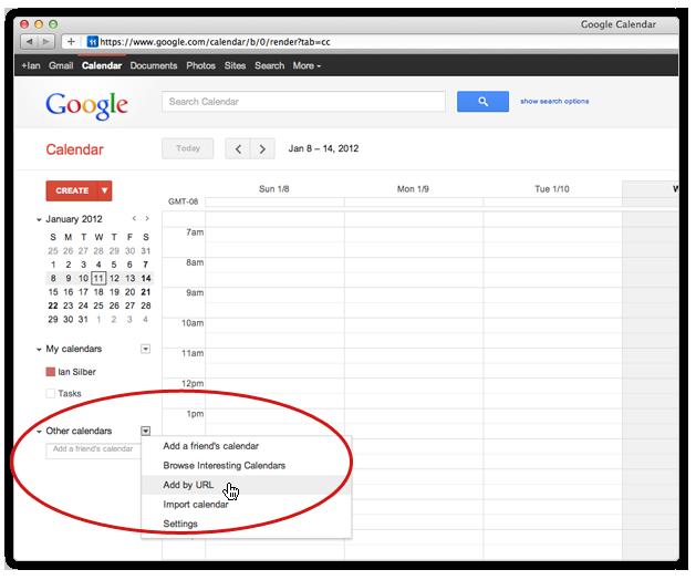 Google Calendar Add by URL